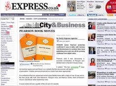 The Daily Express's piece about Penguin and Random House, featured in our blog about media coverage of the Penguin/Random House merger talks.