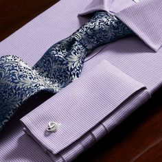 Handmade silver baroque floral tie | Men's handmade ties from Charles Tyrwhitt | CTShirts.com