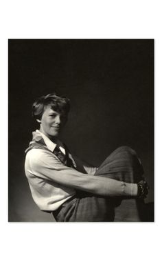 Condé Nast Archive Collection Amelia Earhart, 1931        Approved and printed under supervision of Vogue's Photography Director, Ivan Shaw      This Edward Steichen image appeared in Vanity Fair's November 01, 1931 issue and features American aviator Amelia Earhart seated with her arms around her knees