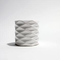 Simplus Design 3D Printed FORMA Ceramic Candle Holders