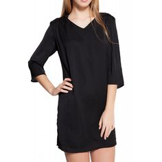 Rochie Dama VERO MODA Hilo 3/4 Short Black Noisy May, Cold Shoulder Dress, Blouse, Long Sleeve, Womens Fashion, Sleeves, Black, Tops, Dresses