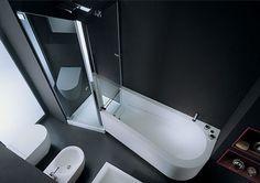 Modern Bath Shower Combo by Genesi   Bathrooms Design