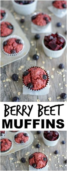 Recipes Snacks Muffins These Blueberry Beet M. Recipes Snacks Muffins These Blueberry Beet Muffins are a health Healthy Breakfast Muffins, Breakfast For Kids, Blueberry Breakfast, Healthy Muffins For Kids, Baby Food Recipes, Gourmet Recipes, Snack Recipes, Smoothie Recipes, Clean Eating Snacks