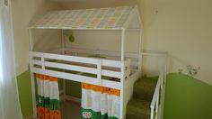 Lit cabane sur une base Ikea MYDAL #ikea #mydal #PAHL #TROFAST