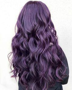 Violine, purple hair, hair tren, cheveux violets, violet ombré, dark, violet