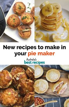 From slices, pancakes, tarts to pies (of course!) these pie maker recipes are perfect for the whole family. Mini Pie Recipes, Pastry Recipes, New Recipes, Cooking Recipes, Favorite Recipes, Sunbeam Pie Maker, Breville Pie Maker, Enchiladas, Australian Food