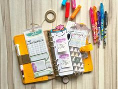 Happiness is Scrappy: Planners | Confession of A Stationery Addict (Pilot Frixion) - I love the coffee mug page marker/dashboard