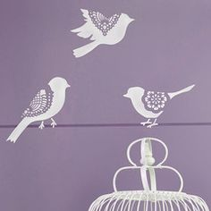 Wall Motif Lace Bird Stencil Set - Royal Design Studio Stencils