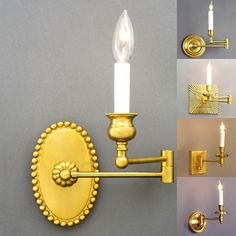 Swing Arm Oval French Bronze Dimensions H x W x D Options Available * French Bronze, Nickel finish, Custom * Single Arm Swing Arm Wall Light, Nickel Finish, Candle Sconces, Wall Lights, Bronze, Candles, French, Lighting, Home Decor
