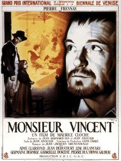 High resolution French movie poster image for Monsieur Vincent The image measures 1889 * 2617 pixels and is 922 kilobytes large. Grand Prix, Jean Anouilh, Film Streaming Vf, Cinema, Movie Posters, Movies, Fictional Characters, Cloche, Music