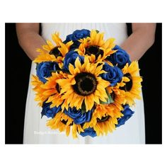 Sunflower Western Wedding Flowers ❤ liked on Polyvore featuring home, home decor and western home decor