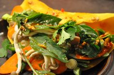 Banh Xeo - Vietnamese Coconut Pancake with Vegetable Filling