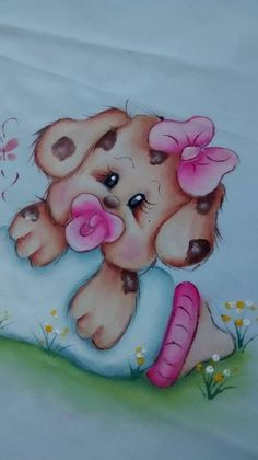 Baby Painting, Fabric Painting, Art Drawings For Kids, Cartoon Drawings, Pinterest Pinturas, Baby Animals, Cute Animals, Baby Clip Art, Paint Cards