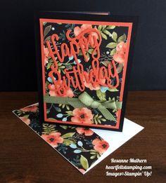 Stampin Up Happy Birthday Thinlit birthday card - Rosanne Mulhern