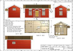 Ladda ner ritningen till HELGBO Attefallshuset - tryck här. Tiny Guest House, Small Tiny House, Tiny House Cabin, Prefab Modular Homes, Vintage House Plans, Cabin Floor Plans, Compact Living, Little Houses, House In The Woods