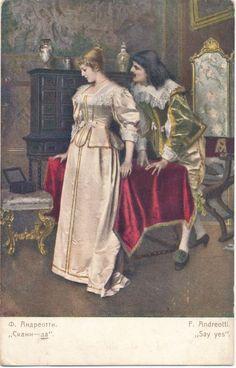 Веб-Портал Музеев - Postkaart. Kunstipostkaart. F.Andreotti. *Ütle - ja*. 1909.