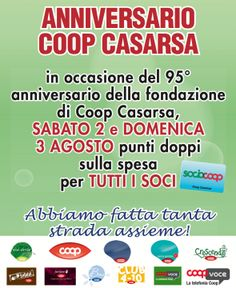 COOP Casarsa   Notizie   REGALO AI SOCI PER I 95 ANNI DI COOP CASARSA