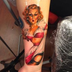 #GilElvgren Pin-Up Tattoo by Line Marielle Kloosterman