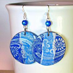 Blue Earrings Colorf