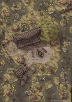 Cabin Battle Map in 2020 Fantasy map Fantasy world map Dungeon maps