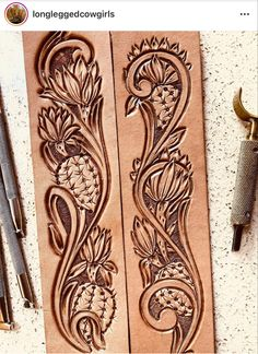 Custom Leather Belts, Leather Jewelry, Leather And Lace, Leather Craft, Tooled Leather Purse, Leather Tooling, Leather Working Patterns, Celtic Patterns, Leather Stamps