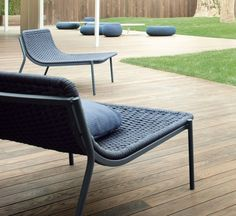 Baia 02 is a low armchair by Francesco Rota for Paola Lenti. #Outdoor #PaolaLenti #MadeInItaly