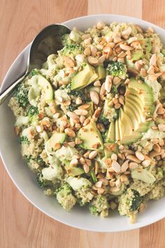 This vegan recipe is packed with healthy, delicious ingredients like avocado, broccoli, almonds and nutritional yeast. It's vegan, oil-free and gluten-free.
