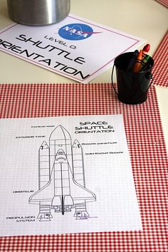 Color space shuttles with parts labeled #space #astronaut