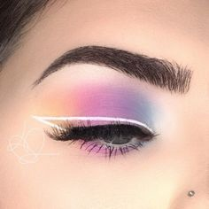 》》》 @ Ɪsɪ Pastellfarbenes Lidschatten-Make-up mit . - Makeup - 》》》 @ Ɪsɪ Pastel colored eyeshadow make-up with . - Makeup - @ Ɪsɪ Pastel-colored eyeshadow make-up with . Makeup Eye Looks, Eye Makeup Art, No Eyeliner Makeup, Crazy Makeup, Color Eyeliner, Beauty Makeup, Fall Eye Makeup, Contouring Makeup, Drugstore Makeup
