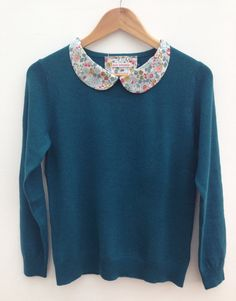 Teal Cashmere and Merino Wool Jumper with Custom by EmmelinesAttic, £59.00