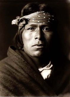 Acoma Pueblo man, 1905-picture taken by Edward S Curtis