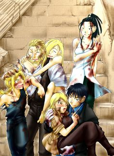 There is so much I love in this! Not the least of which is the fact that Roy's hand is firmly on Riza's butt! :D