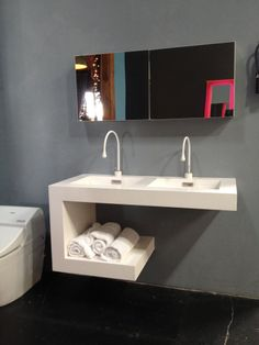 Neo Metro sink with Gessi Goccia faucets