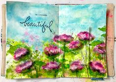 HOW TO PAINT FLOWERS WITH BABY WIPES – Mixed Media Art Tutorials