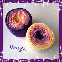 Venezia, Farbverlaufsgarn aus 50% Baumwolle/50% Polyacryl, angenehm weich