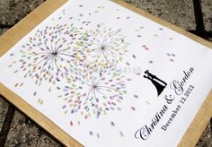 ON SALE of Fireworks with thumbprint colourful, Guest book fingerprint alternative art Postage-in Greeting Cards from Office & School Supplies on Aliexpress.com   Alibaba Group
