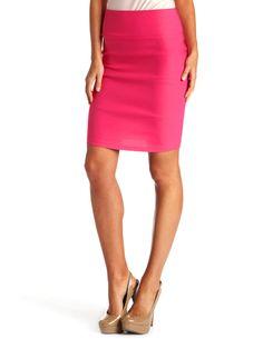 fuschia Pencil Skirt