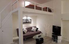 Cozy nice studio with mezzanine at Rue de Saussure in the 17th Paris arrondissement