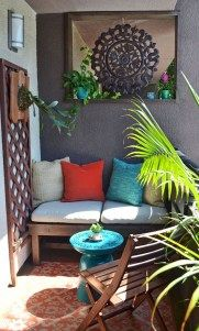 Cozy Small Apartment Balcony Decorating Ideas 37