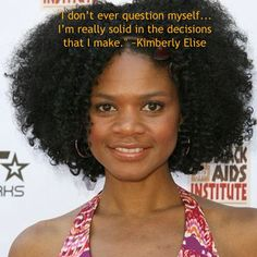 Kimberly Elise on making career decisions. Was your decision to be natural and/or adopt a healthier lifestyle just as easy? #WeighIn