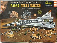 Revell Delta Dagger with 14 Ground Accessories - 'S' Issue, plastic model kit