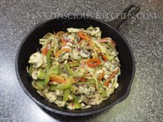 Dr. Sebi Alkaline Electric Veggie Fajitas by Ty's Conscious Kitchen…