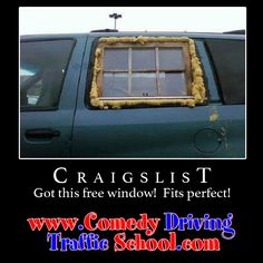 Finding things for free on Craigslist is nice but you got this one all wrong. #comedy #onlinedefensivedriving #defensivedriving  #defensivedrivingflorida  #safedriving  #safedrivingflorida  #trafficschool  #trafficschoolflorida  #followme #craigslist #fail #epicfail http://www.comedydrivingtrafficschool.com/