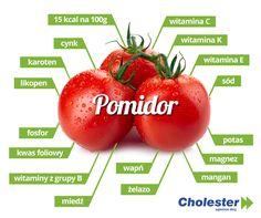 Czerwone, pachnące i soczyste – właśnie takie są pomidory. Możemy jeść je w postaci surowej, duszonej, marynowanej, a nawet kiszonej. Każdy znajdzie coś dla siebie. :) #pomidor #cholesterol #dieta #owoce