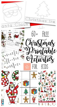 These wonderful, free Christmas printable activities for kids will have them entertained for hours! #Christmas #Christmasprintables #printablesforkids