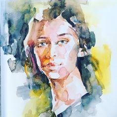 Portrait, Painting, Art, Watercolor, Art Background, Headshot Photography, Painting Art, Kunst, Portrait Paintings