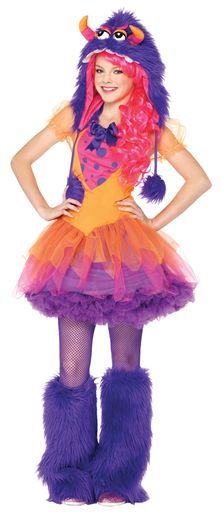 This Teen Furry Monster Costume by Leg Avenue is cute and colorful! Why go for ghoulish on Halloween when you could look totally fun? This adorable Teen Girl Costumes, Halloween Costumes For Teens Girls, Most Popular Halloween Costumes, Halloween Costumes For Girls, Costume Halloween, Girl Halloween, Christmas Costumes, Creative Costumes, Woman Costumes