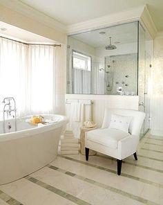Marguerite Rodgers Interior Design Bathrooms Slate