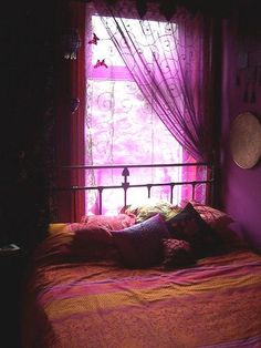 Purple Bohemian Bedroom gypsy home | bohemian decor | notre maison | pinterest | bohemian