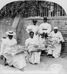 The sweet venders, Kingston, Jamaica   c1899  original post: http://vintageblackbeauty.tumblr.com/post/12331951716/the-sweet-venders-kingston-jamaica-circa-1899